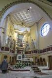Ska di Turza ÅšlÄ…, Polonia, il 7 ottobre 2017: Presbiterio con un Alta Fotografie Stock Libere da Diritti