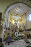 Ska di Turza ÅšlÄ…, Polonia, il 7 ottobre 2017: Presbiterio con un Alta Immagini Stock