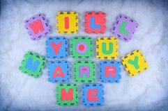 Ska dig att gifta sig mig Royaltyfri Fotografi