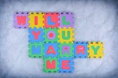 Ska dig att gifta sig mig Arkivfoton