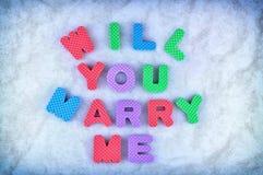 Ska dig att gifta sig mig Royaltyfria Bilder