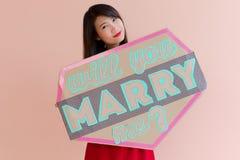 Ska du att gifta sig mig Arkivfoto