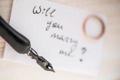 Ska du att gifta sig mig? Arkivfoton