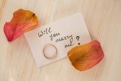 Ska du att gifta sig mig? Arkivbilder