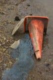 Skażenie Wody i grat Fotografia Stock