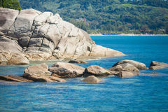 Skała i morze Obrazy Royalty Free
