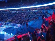 SKA Lodowi Hokejowi fan Macha flaga Fotografia Stock