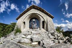 Skała modlitwa w Roccaporena Santa Rita Cascia zdjęcie stock