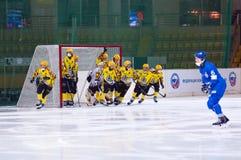 SKA Neftyanik drużyna w bramie Fotografia Royalty Free