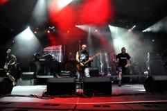 Ska-P ska punk rock zespół od Hiszpania wykonuje żywego na scenie Obraz Stock