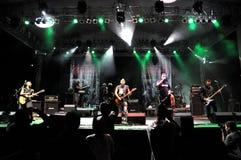 Ska-P ska punk rock zespół od Hiszpania wykonuje żywego na scenie Fotografia Royalty Free