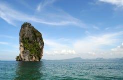 Skała w morzu Fotografia Stock
