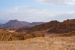 Skały i góry w timna parku w Izrael Fotografia Royalty Free