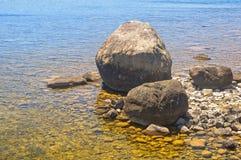 Skały i kamienie - jeziora St Clair Zdjęcia Stock