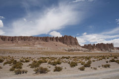 Skały i piasek pustynia, Chile Obraz Stock