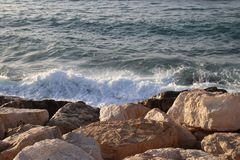 Skały i woda morska Fotografia Stock