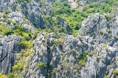 Skały Khao Sam Roi Yot park narodowy Fotografia Royalty Free