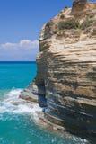 Skały Sidari na Corfu Fotografia Royalty Free