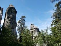 Skały w lesie Obraz Royalty Free