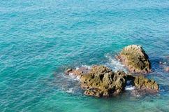 Skały w morzu Fotografia Stock