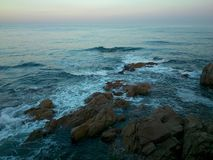 Skały w morzu Obraz Royalty Free