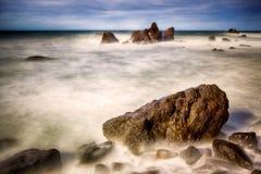 Skały w oceanie Fotografia Stock