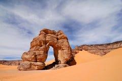 Skały w pustyni, sahara, Libia Fotografia Stock