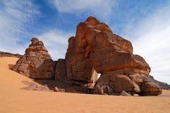 Skały w pustyni, sahara, Libia Fotografia Royalty Free