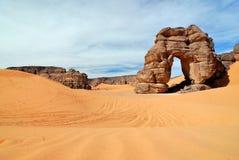 Skały w pustyni, sahara, Libia Obraz Royalty Free