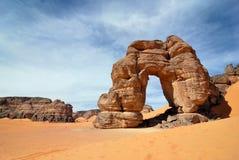 Skały w pustyni, sahara, Libia Zdjęcie Stock