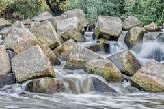 Skały w rzece Obrazy Royalty Free