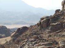 Skały w saudyjczyku - arabska pustynia Zdjęcia Stock