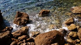 Skały w seashore Catalonia zdjęcie stock