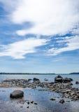 Skały w wodzie Fotografia Royalty Free
