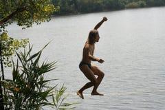Skackline acima da água Imagens de Stock Royalty Free