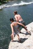 skaczący klifu Zdjęcia Royalty Free