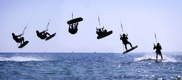 skacz kiteriding Obrazy Stock