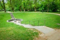 skacze w parkowym pobliskim Złym Homburg Niemcy fotografia royalty free