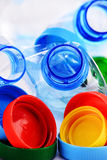 Skład z klingeryt nakrętkami i butelkami Obraz Royalty Free
