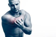 Skada av armbågen arkivfoto
