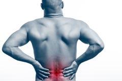 Skada av ryggen fotografering för bildbyråer