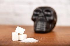 Skada av sockerbegreppet royaltyfri foto