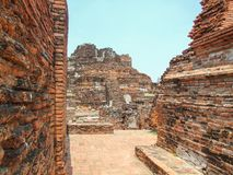 Skada av templet royaltyfria bilder