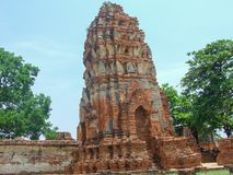 Skada av templet royaltyfri fotografi