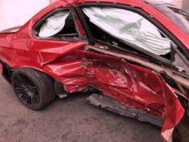 Skada för bilkrasch Arkivfoton