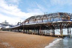 Skada för Eastbourne pirbrand Arkivbilder