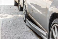 Skada för kjol för sida för bilolycka royaltyfria foton