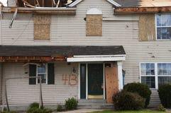 skada förstörde home wind för husstormtromben royaltyfria foton