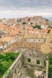 Skada från kriget som är synligt i Dubrovnik den gamla staden Royaltyfri Fotografi