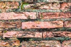 Skadad bakgrund för gammalt brott för tegelstenvägg Royaltyfri Bild